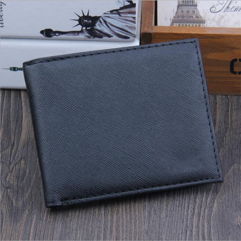 New PU Cross Pattern Men's wallet