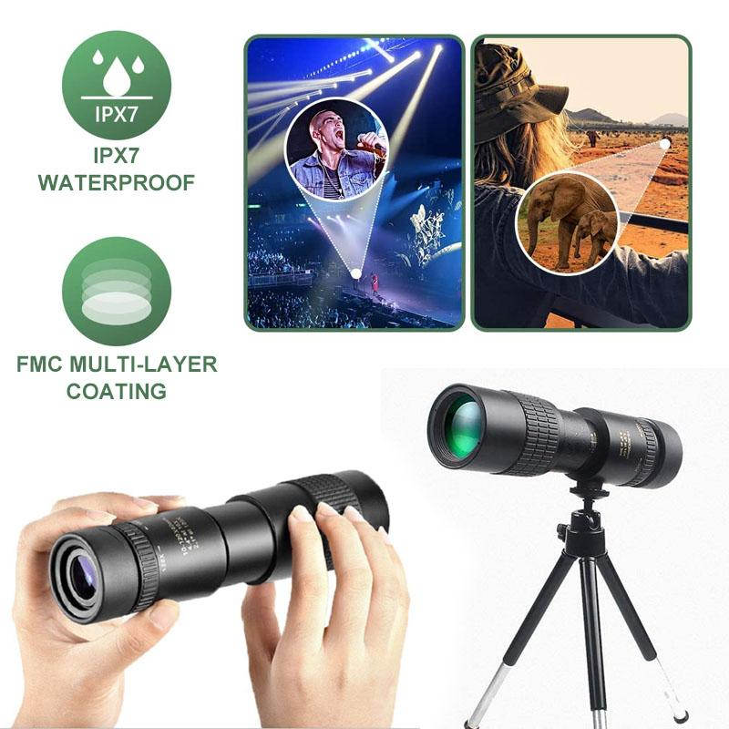 【50% OFF TODAY】4K Super telephoto zoom monocular telescope