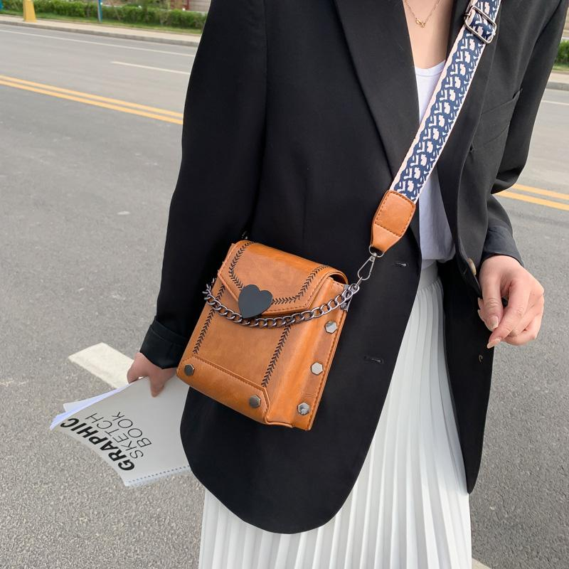 Wide Shoulder Strap Crossbody Bag