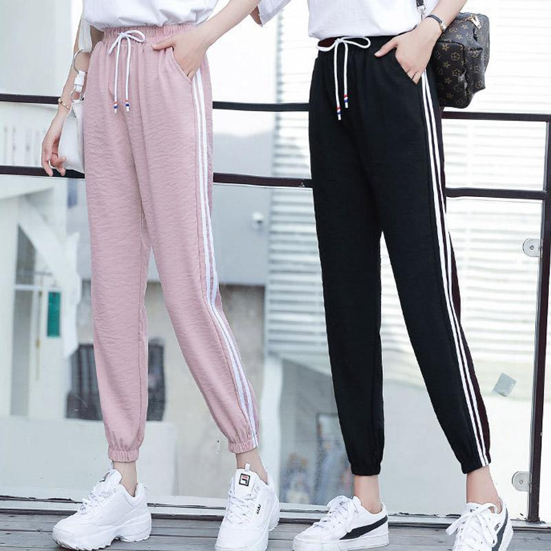 Sporty Trousers with Bound Feet