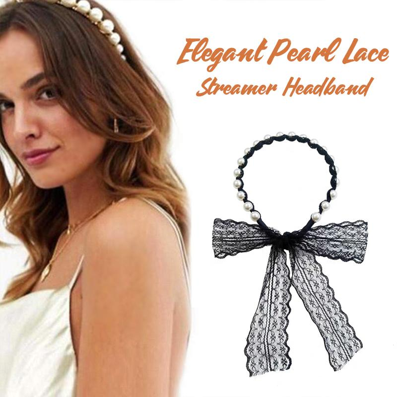 Pearl Lace Streamer Headband