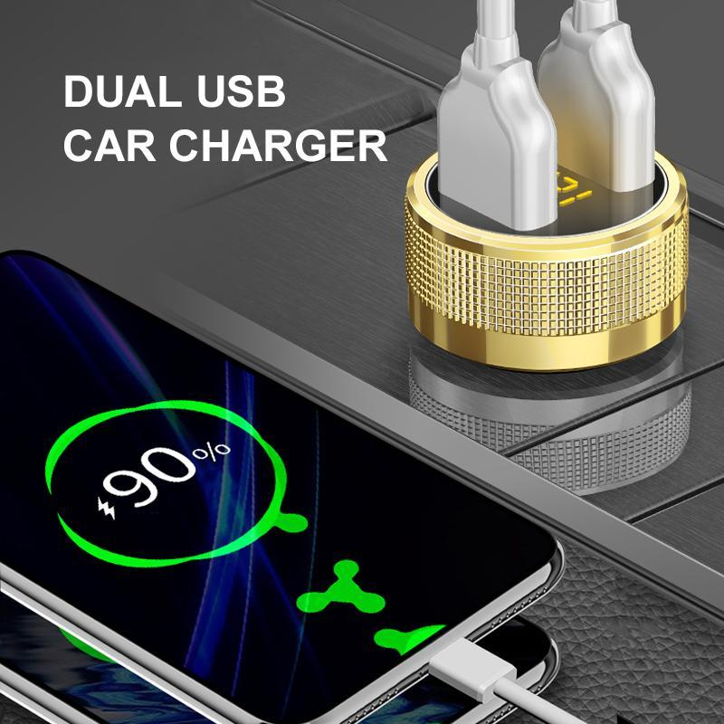 Dual USB Charging Car Cigarette Lighter