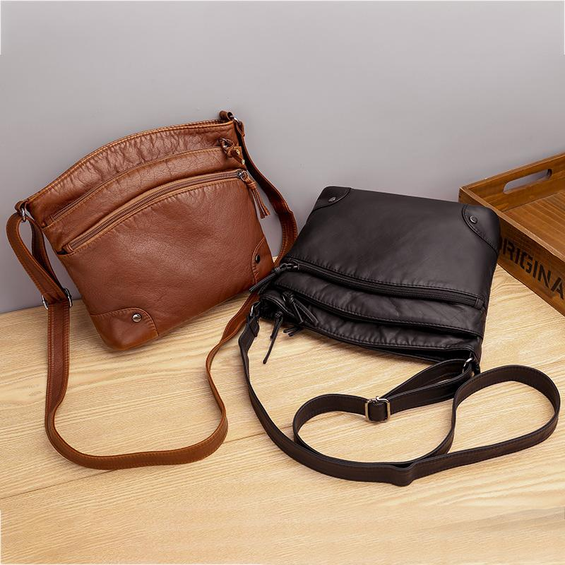 Multi-Compartment Leather Bag
