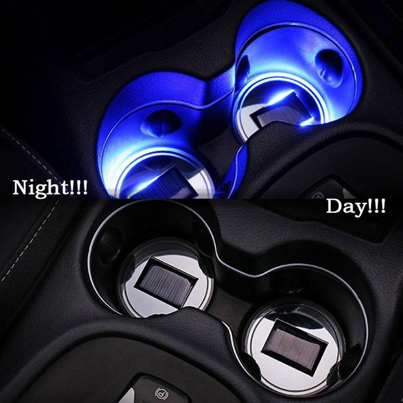 Solar-Powered Cup Holder Lights (2 Pack)