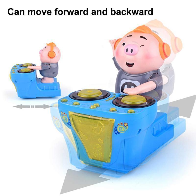 DJ swinging discs pig music electric dancing pigs