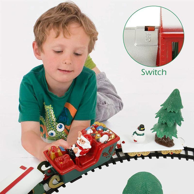 Christmas Electric Rail Car Train Toy