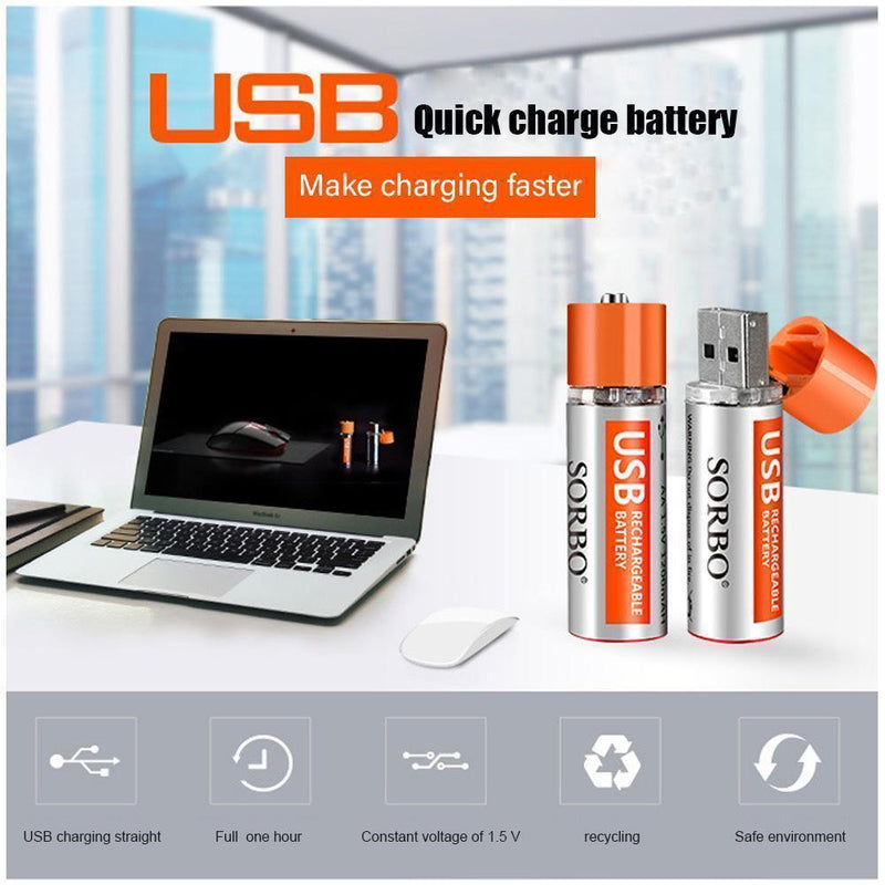 Rechargeable Batteries Usb Port Lithium