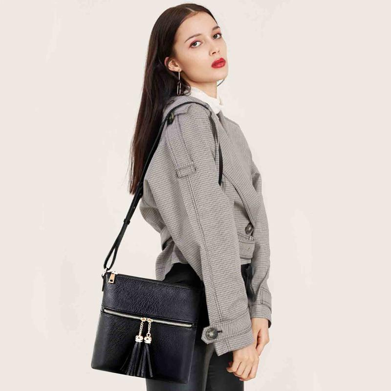 Medium Crossbody Bag with Tassel