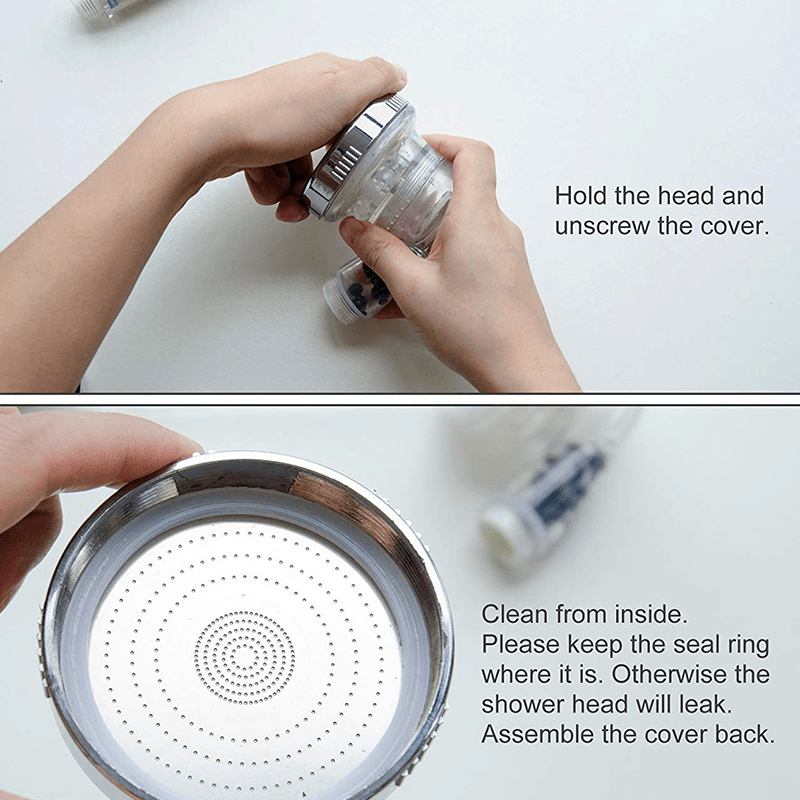 High-Pressure Ionic Filtration Shower Head