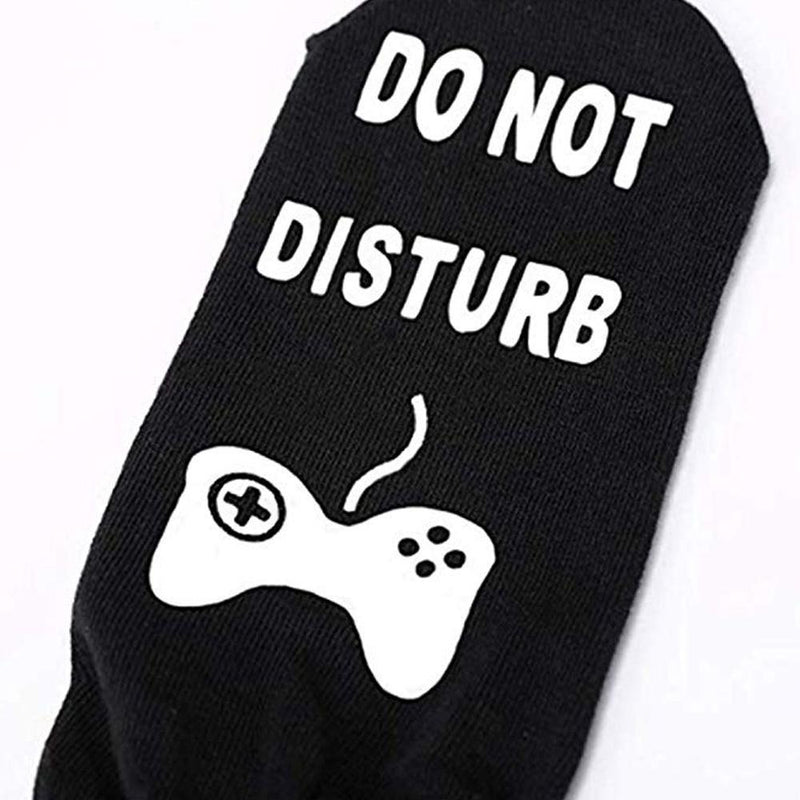 Do Not Disturb I'm Playing Fortnite Funny Cotton Socks, 1 Pair