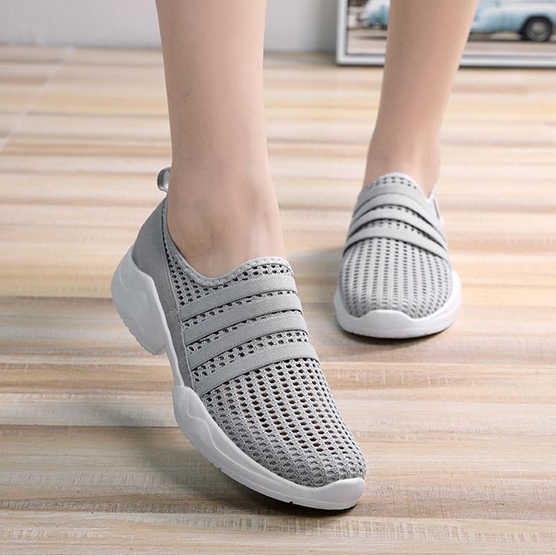 Mesh Sports Casual Slip On Walking Shoes