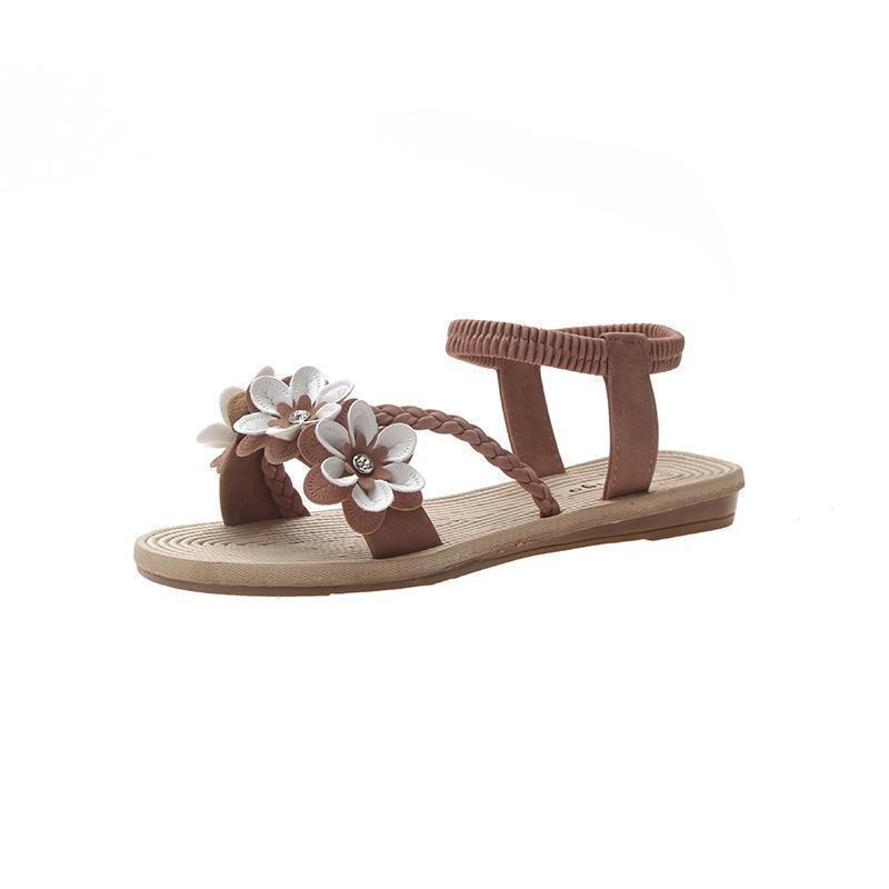 New Women's Sandals With Bohemian Flowers