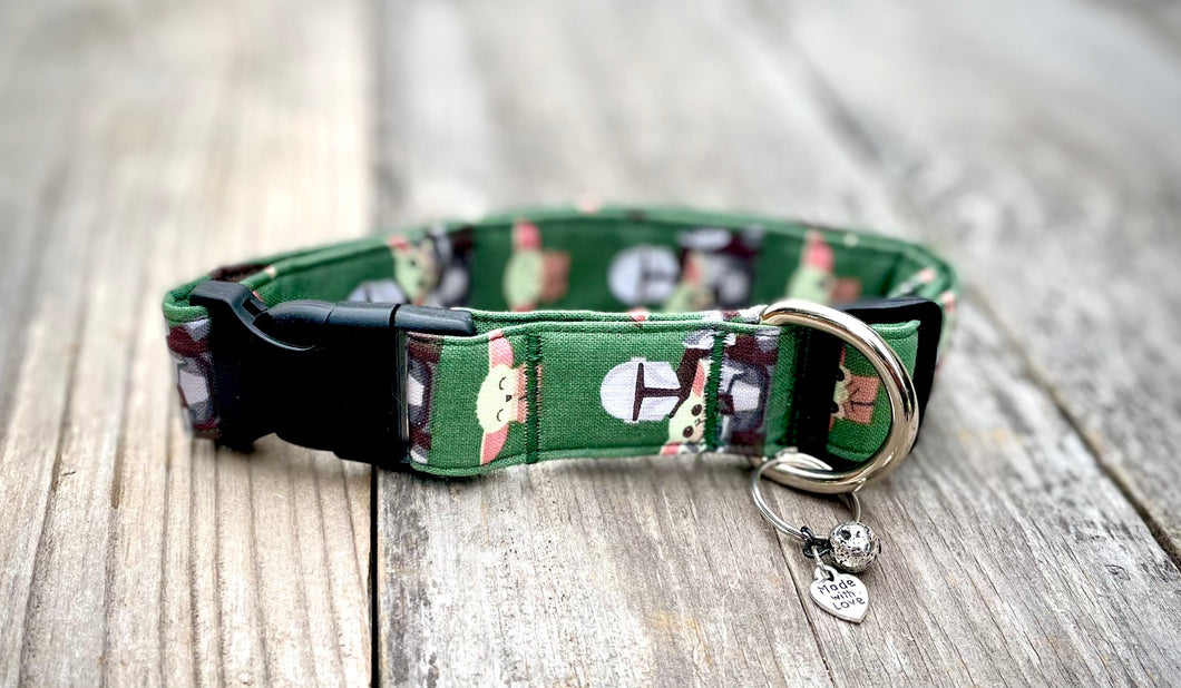 The Mandalorian and Baby Yoda -Dog Collar