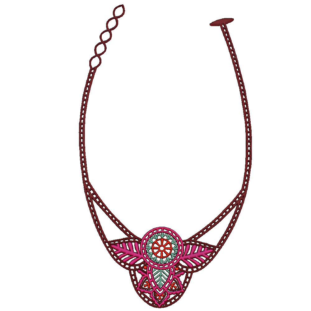 Batucada Indian Pink Necklace - Tantrika Clothing