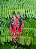 Revital Feather & Leather Earrings - Tantrika Clothing