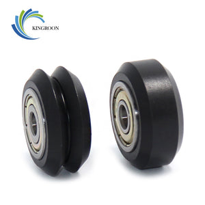 POM Plastic Pulley Wheel Small Big V-slot Model MR105 Ball Bearings 625ZZ 3D Printer Parts Round Idler Gear Perlin V Type Pulley