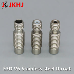 E3D V6 hot end Throat 3d printer parts Stainless Steel All metal Teflon tube extrusion head Throat For 1.75 mm Filament 5
