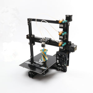 HE3D the Newest EI3 triple large print size 3 in 1 out extruder 3D printer kit with 2rolls filament+SD card as gift