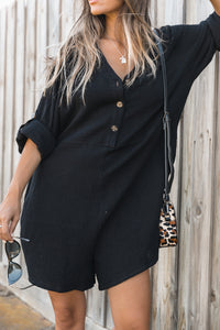 Cove Playsuit - Black