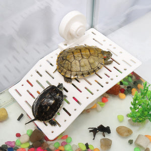 1Pcs Plastic Turtle Decoration Bask Platform Crawler Sun Roof Terrace Island Turtle Climb Shelf Aquarium Tools