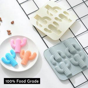 Silicone mold Cute cactus Shape 3D Silicone Chocolate Mold Candy Cookie Baking Fondant Mold Cake Decoration Tools ice cream mol