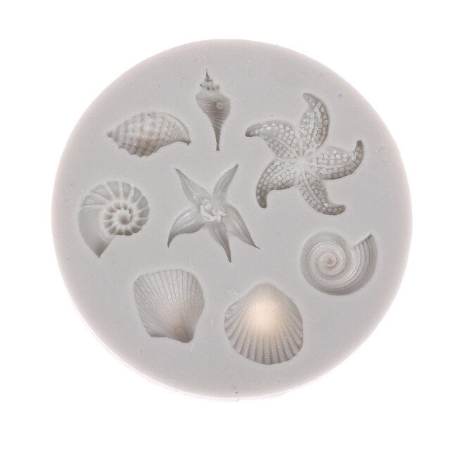 Lace Silicone Mold Mould Sugar Craft Fondant Mat Cake Decorating Baking Tools Sea Creatures Conch Starfish Shell Fondant Mol CIQ