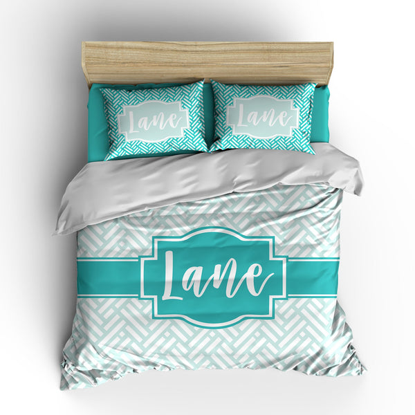 Basket Weave Personalized Bedding