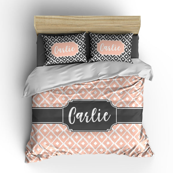 Ikat Diamonds Personalized Bedding