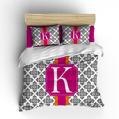 Medallion Damask Personalized Bedding