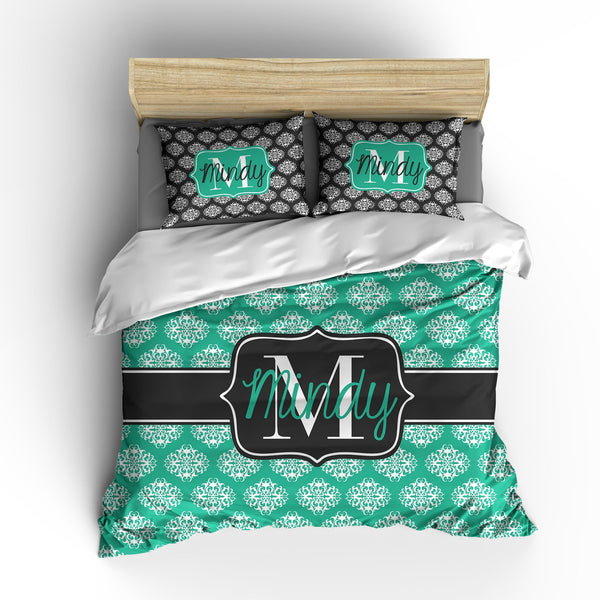 Mod Damask Personalized Bedding