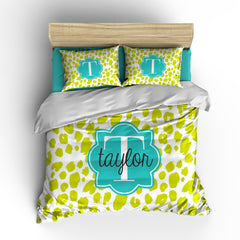 Painted Leopard Personalized Bedding