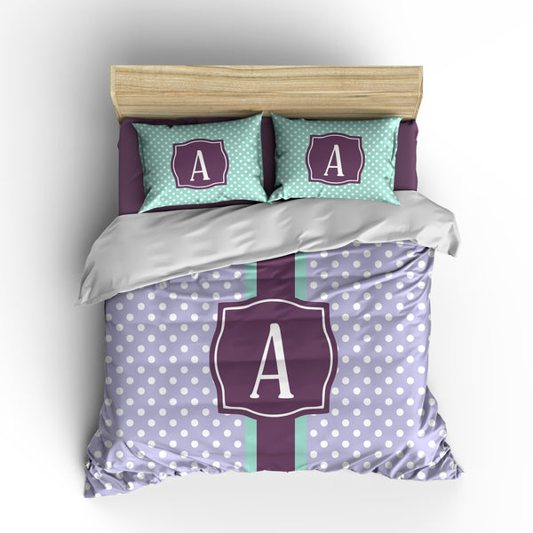 Preppy Dots Personalized Bedding