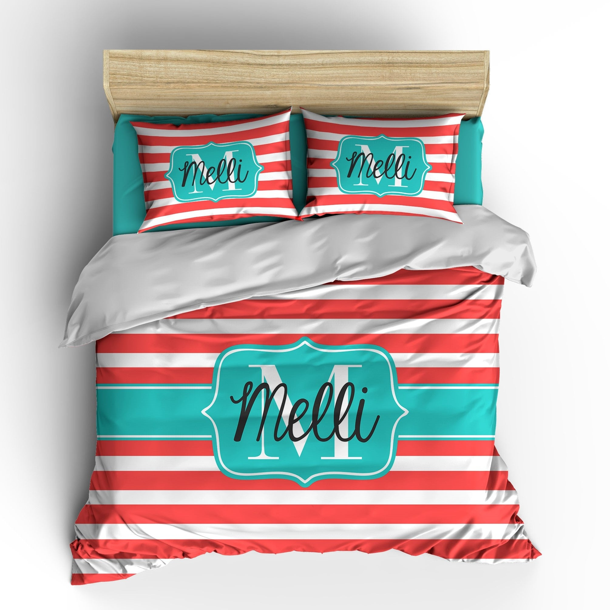 Rugby Stripes Personalized Bedding