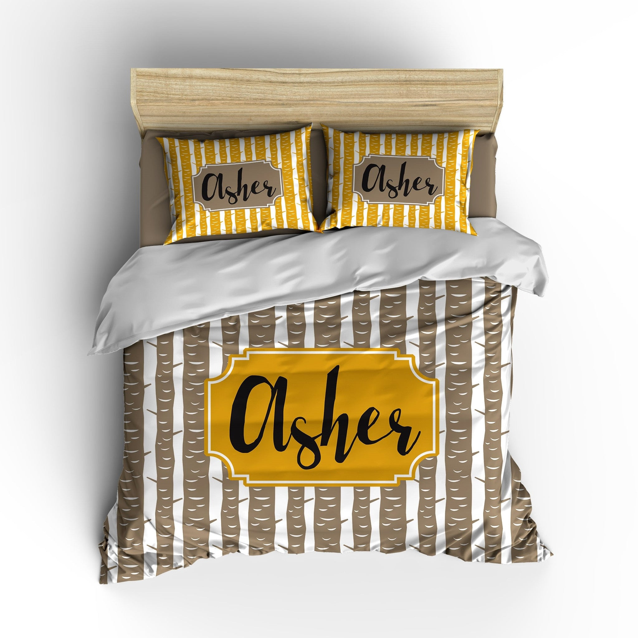 Tree Trunk Personalized Bedding