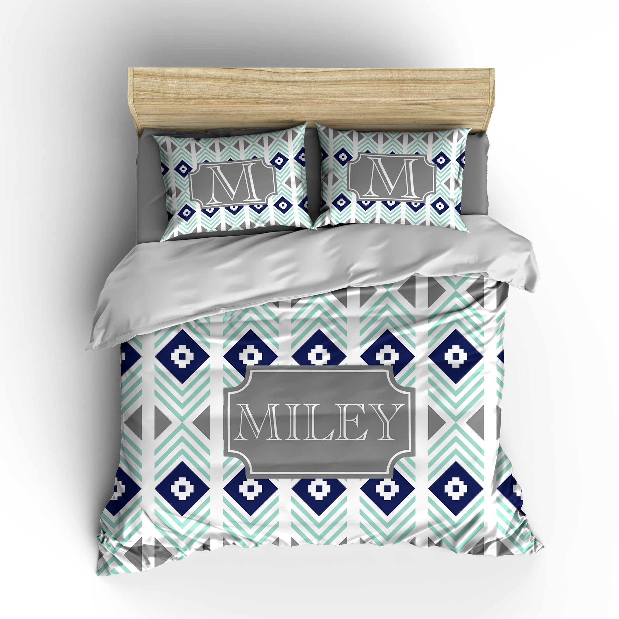 Tribal Stripes Personalized Bedding