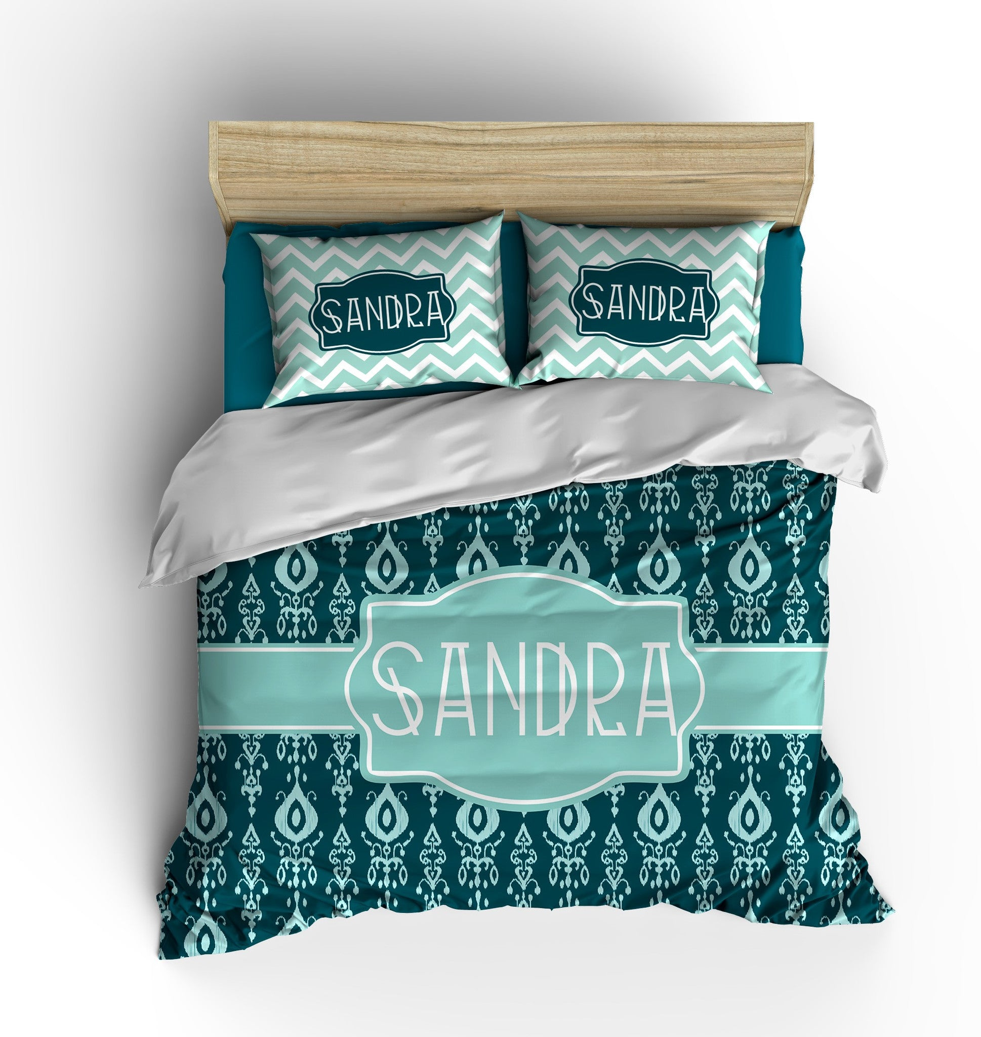 Poolside Ikat Personalized Bedding