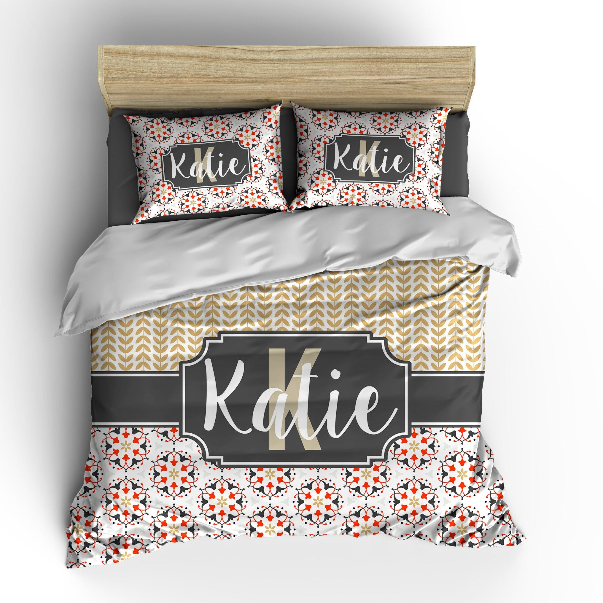 Modern Ornate Personalized Bedding