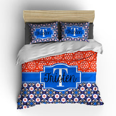 Floral Ornate Personalized Bedding