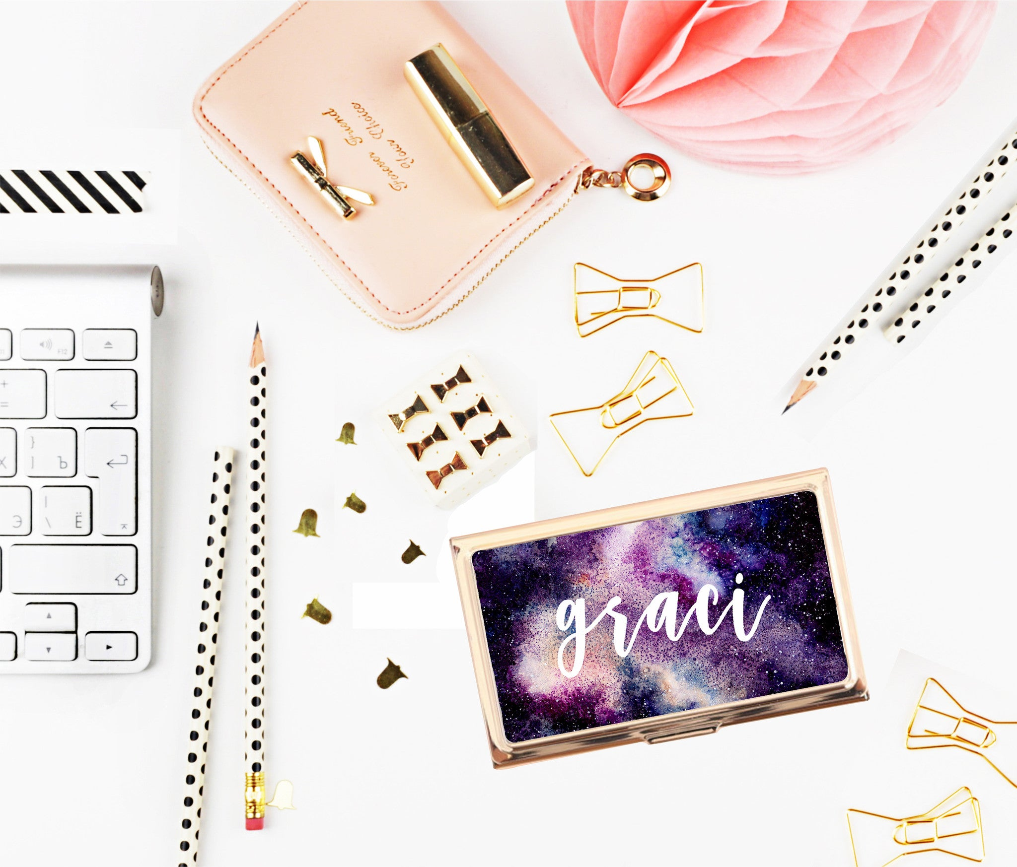 Galaxy Business Card Holder