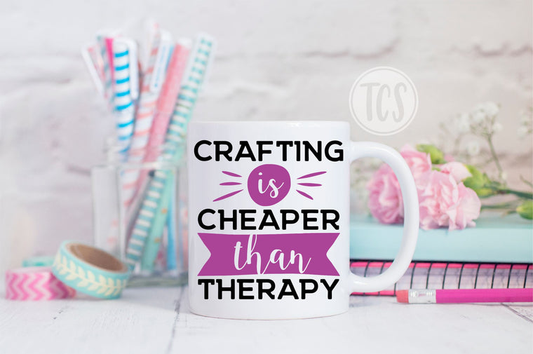 Crafting is Cheaper than Therapy Coffee Mug (CM1041)