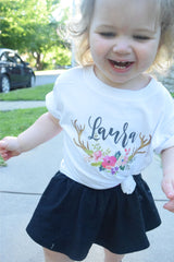 Last Name Monogram  Toddler Infant Tee