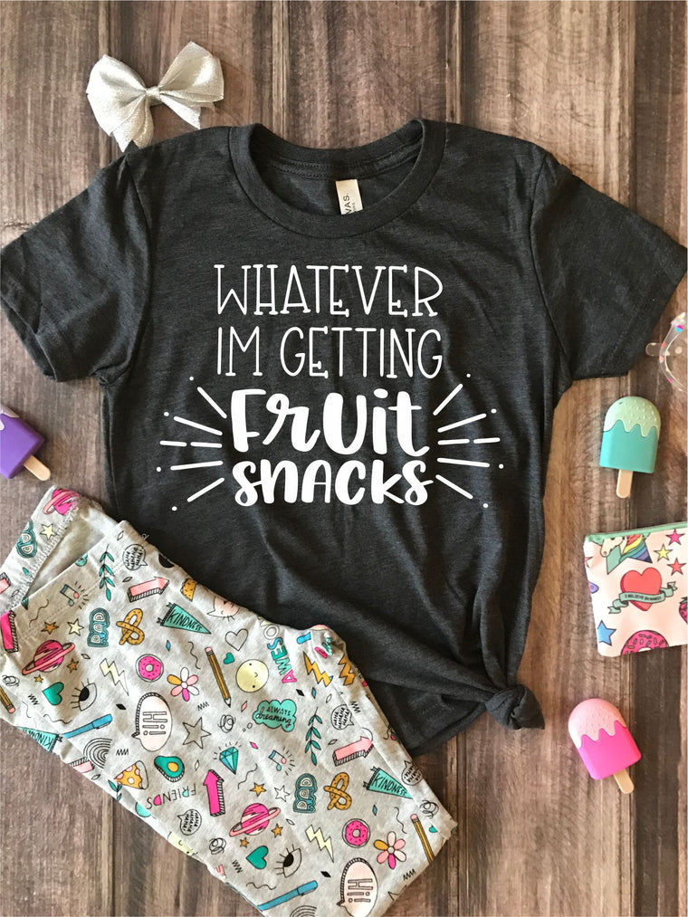 Whatever I'm Getting Fruit Snacks Kids Graphic Tee