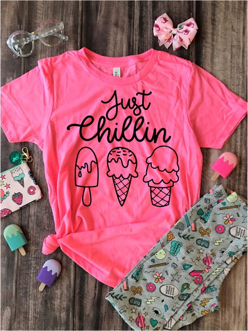 Just Chillin Kids Graphic Tee