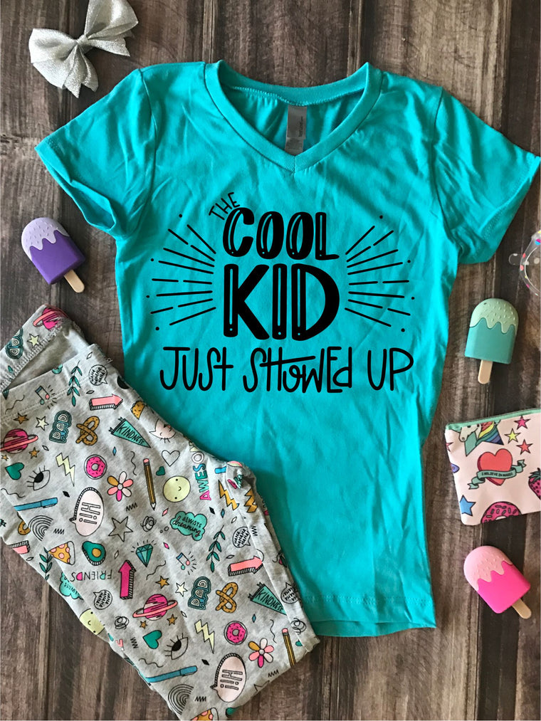 The Cool Kid Just Showed Up Kids Graphic Tee