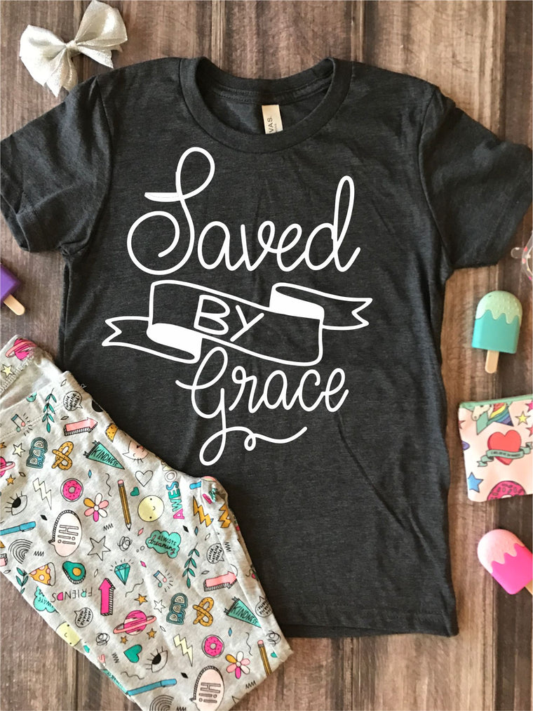 Saved By Grace Kids Graphic Tee