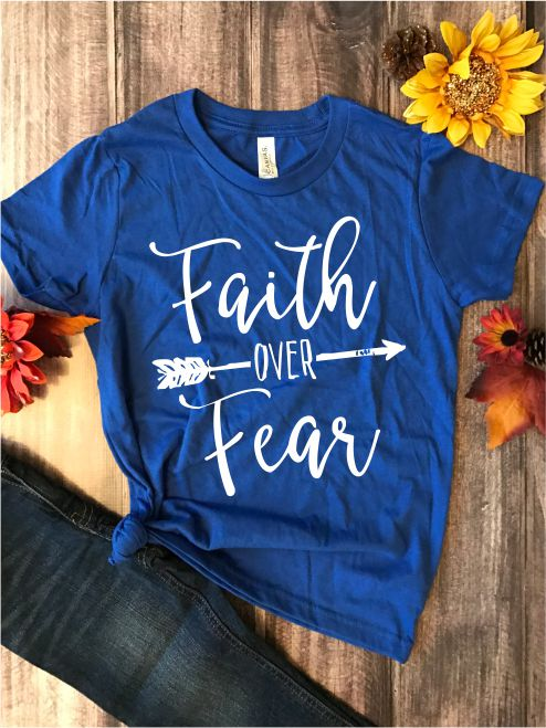 Faith over Fear Kids Graphic Tee