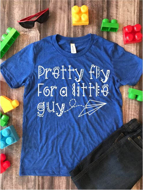 Pretty Fly for a Little Guy Kids Graphic Tee