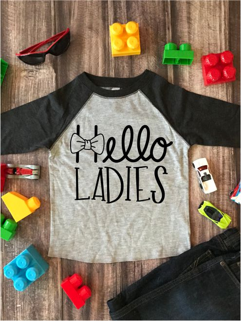 Hello Ladies Kids Graphic Tee