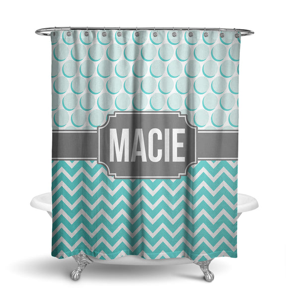 Chevron Monogram Shower Curtain (SC1006)