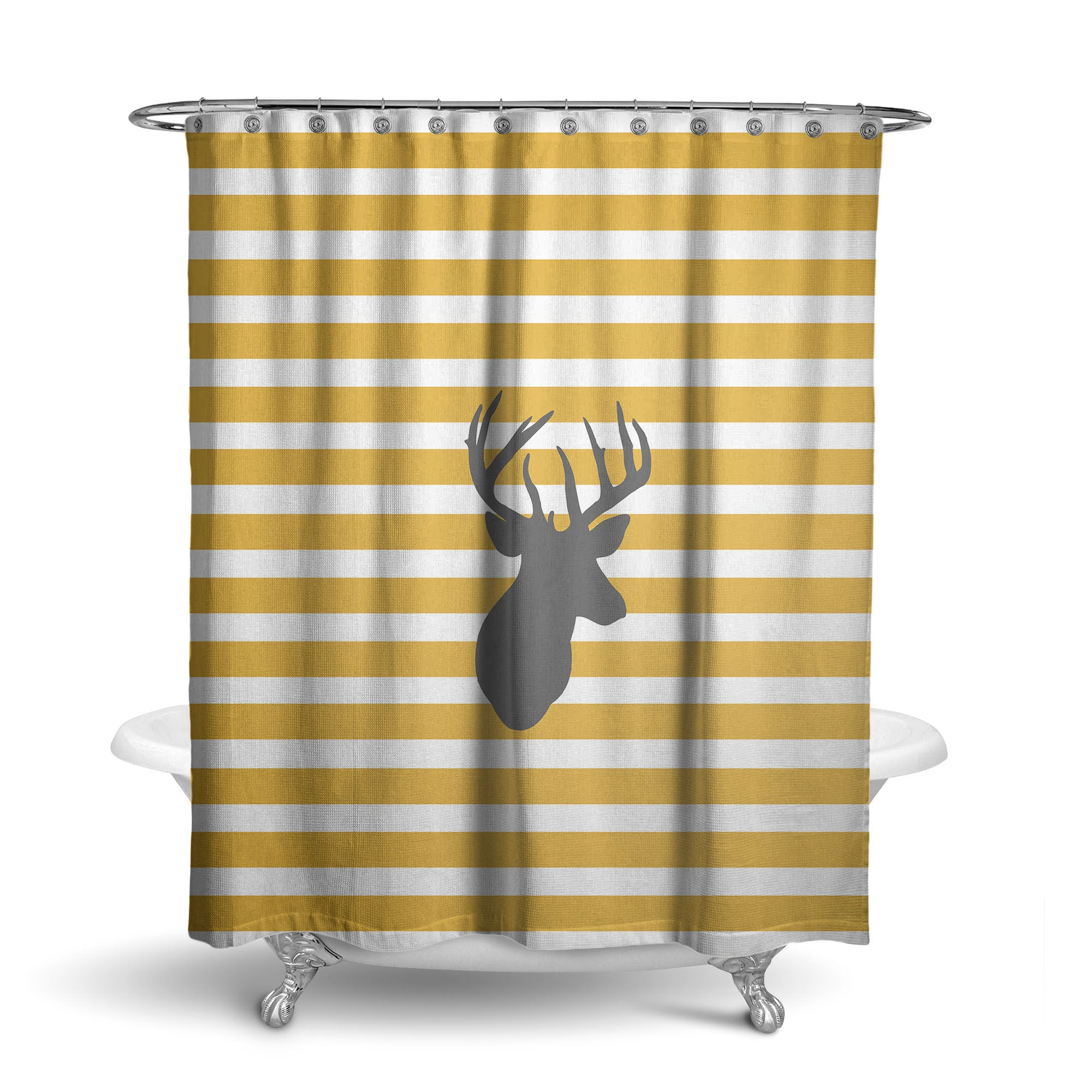 Deer Head Shower Curtain (SC1008)